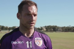 Perth Glory striker Brendon Santalab
