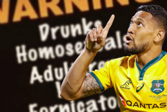 Israel Folau fails to appeal: contract terminated